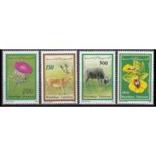 1990 Tunisia Mi.1219-1222 Fauna and flora 5,00 €