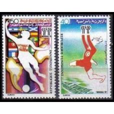 1978 Tunisia Mi.930-931 1978 World championship on football of Argentina 1.60