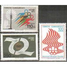 1972 Turkey Michel 2261-2263 1972 Olympiad Munhen 2.00 €