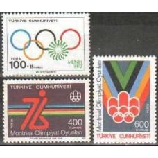 1976 Turkey Michel 2398-2400 1976 Olympiad Montreal 3.00 €