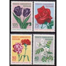 1960 Turkey Mi.1735-1738 Flowers 4,50 €