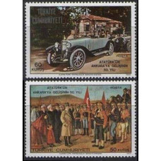 1969 Turkey Mi.2156-2157 Automobiles 2,00 €