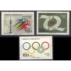 1972 Turkey Mi.2261-2263 1972 Olympiad Munhen 2.00