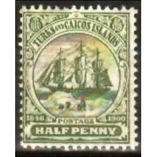 1905 Turks & Caicos Islands Mi.43* w4 5.00 €