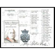 1985 Turks & Caicos Islands Mi.756/B61 J.S.Bach 7.50 €