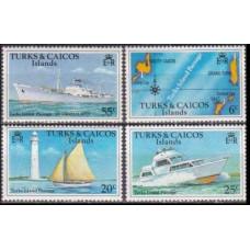 1978 Turks & Caicos Islands Mi.381-384Y Ships 3,00