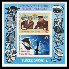1974 Turks & Caicos Islands Mi.339-40/B4 Churchill 1,20 €