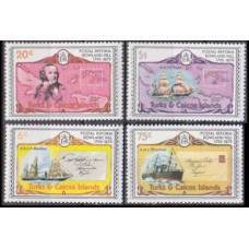 1979 Turks & Caicos Islands Mi.436-441 Ships with sails / Rowland Hill 5,00 €