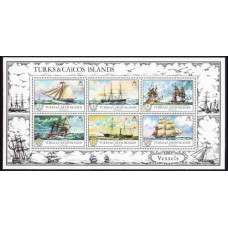 1973 Turks & Caicos Islands Mi.322-327/B2 Ships with sails 4,20 €