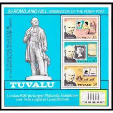 1979 Tuvalu Michel 109-111/B3 Rowland Hill 2.20 €
