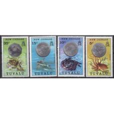 1976 Tuvalu Mi.19-22 Sea fauna 6,00 €
