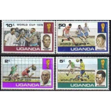 1978 Uganda Mi.183-186 1978 World championship on football of Argentina 2.80