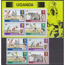 1978 Uganda Mi.183-186+183-186/B11 1978 World championship on football of Argentina 9,00 €