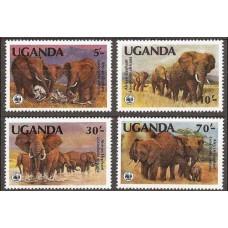 1983 Uganda Mi.361-364 WWF