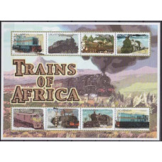 2000 Uganda Mi.2308-2315KL Locomotives 12,00 €