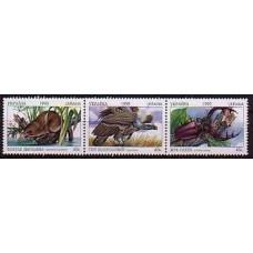 1999 Ukraine Mi.331-333strip Fauna 1,80 €