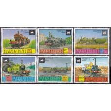 1975 Upper Volta(Haute-Volta) Mi.557-561 Locomotives 7,50 €