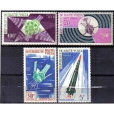 1967 Upper Volta(Haute-Volta) Mi.214-217 Rockets 4,20 €