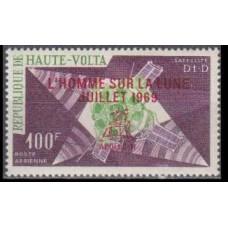 1969 Upper Volta(Haute-Volta) Mi.268 Overprint # SUR LA LUNE JUILLET 1969 4,50