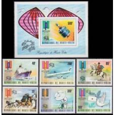 1974 Upper Volta(Haute-Volta) Mi.517-522+523/B26 Satellite Dish 16,00
