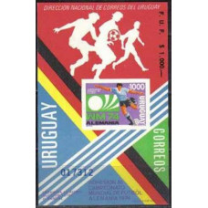 1974 Uruguay Michel 1304/Bb 1974 World championship on football of Munchen 50.00 €