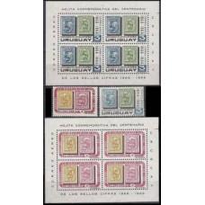 1966 Uruguay Mi.1078-79+B7+B8 6,00 €