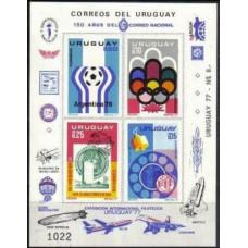 1976 Uruguay Mi.1402-05/B29b 1978 World championship on football of Argentina 35.00