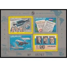 1975 Uruguay Mi.1363-1366/B27 Apollo-Soyuz Test Project 40,00 €