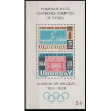 1965 Uruguay Mi.1022-1023/B6 1964 Olympics Tokyo
