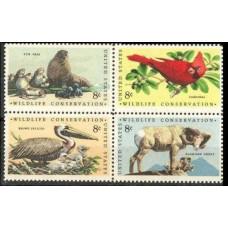 1972 USA Mi.1079-1082VB Wildlife conservation 1,40 €