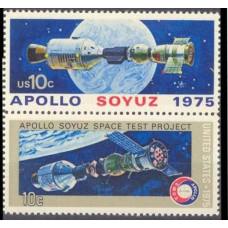 1975 USA Mi.1179-1180Paar Apollo-Soyuz Test Project 0,70 €