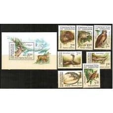 1993 Uzbekistan Michel 7-13+14/B1 Fauna 4.00 €