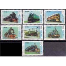 1999 Uzbekistan Mi.186-92 Locomotives 8,00 €