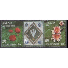1999 Vatikan City Mi.1277-1278strip Flowers 5,00 €
