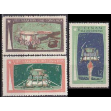 1971 Vietnam Mi.672-674 Luna-17 5,00 €