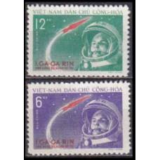 1961 Vietnam Mi.166-167 Yuri Gagarin 24,00 €