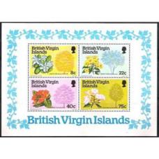 1978 British Virgin Islands Mi.340-343/B8 Flowers 4,50 €