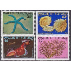 1982 Wallis & Futuna Mi.430-433 Sea fauna 9,50 €