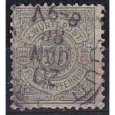 1875 Germany Wurttemberg Michel 49 used 50.00 €
