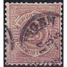 1875 Germany Wurttemberg Michel 48 used 12.00 €