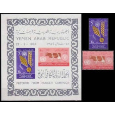 1963 Yemen (Arab Republic YAR ) Mi.283-284+283-284/B14b Fauna and Flora 22,50 €