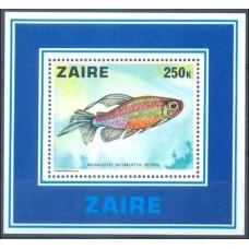 1978 Zaire Mi.557/B17 Sea fauna 14.00 €