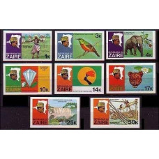 1979 Zaire(Congo (Kinshasa) 589-596b Zaire river expedition 15,00 €