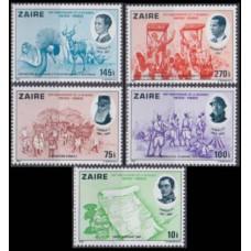 1980 Zaire(Congo (Kinshasa) Mi.689-693 Belgian independence 10,00 €
