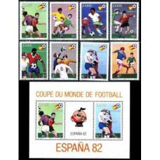 1981 Zaire Mi.722-729+B40 1982 World championship on football of Spanien 20.00 €