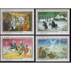 1980 Zaire(Congo (Kinshasa) Mi.703-706 Paintings 4,00 €