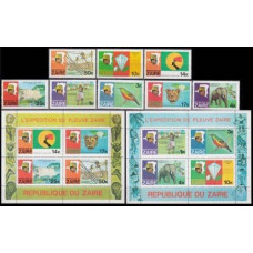 1979 Zaire(Congo (Kinshasa) Mi.589-596+589-92/B23+593-96/B24 Zaire river expedition 29,50 €