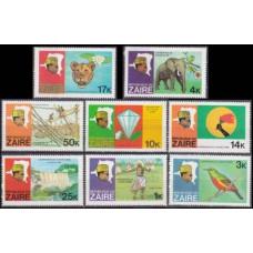 1979 Zaire(Congo (Kinshasa) Mi.589-596 Zaire river expedition