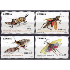 1989 Zambia Mi.503-506 Insects 11.00 €