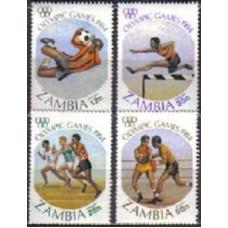 1984 Zambia Michel 314-317 1984 Olympiad Los Angeles 3.00 €
